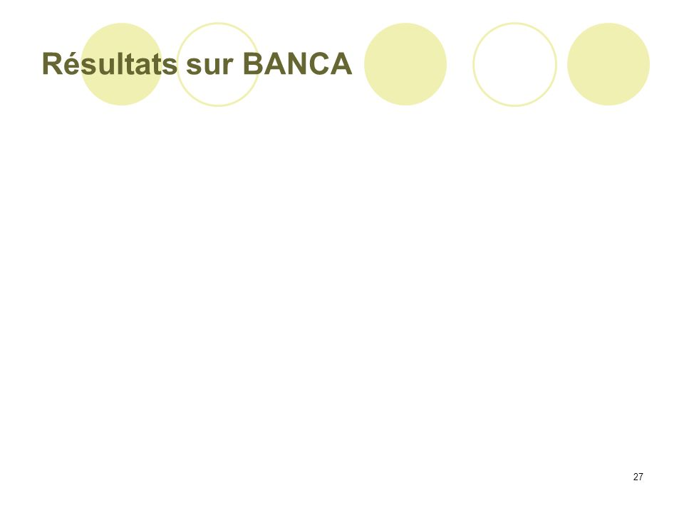 27 Résultats sur BANCA