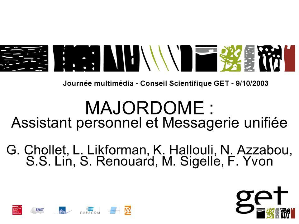 Page 2Journée MM / Conseil Scientifique GET - 9/10/2003 n 1.