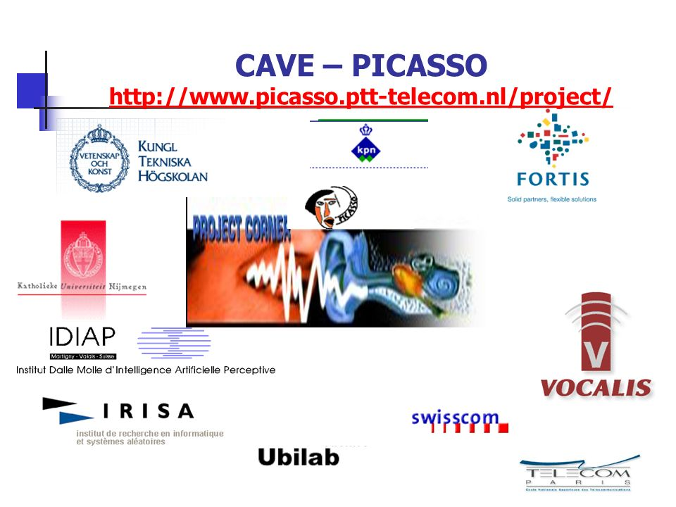 CAVE – PICASSO http://www.picasso.ptt-telecom.nl/project/