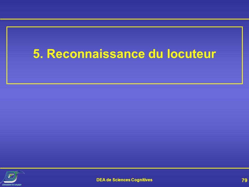 DEA de Sciences Cognitives 78 Recherche actuelle