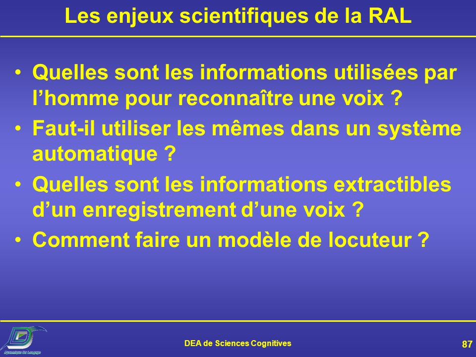 DEA de Sciences Cognitives 86 Et lhomme .