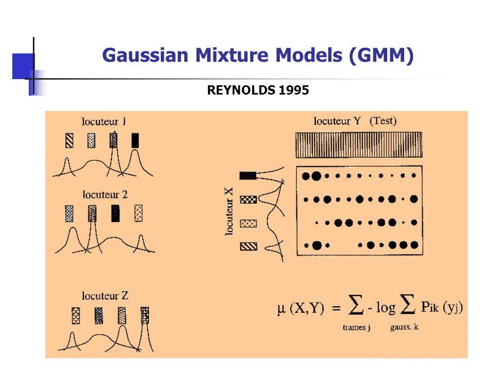 Gaussian Mixture Models (GMM) REYNOLDS 1995