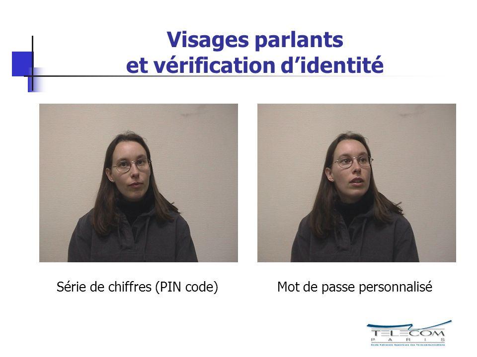 Visages parlants et vérification didentité Série de chiffres (PIN code)Mot de passe personnalisé