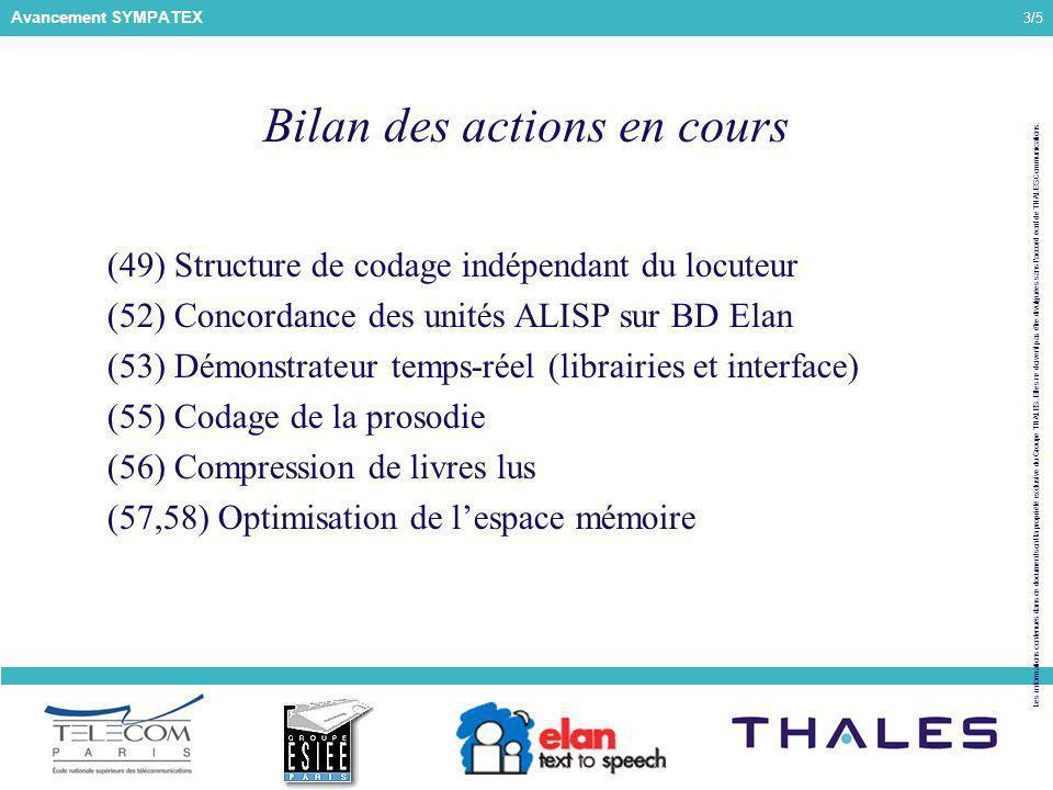 3/5 Les informations contenues dans ce document sont la propriété exclusive du Groupe THALES.