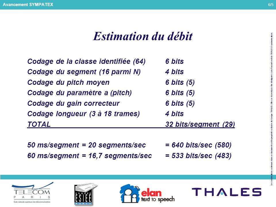 6/5 Les informations contenues dans ce document sont la propriété exclusive du Groupe THALES.