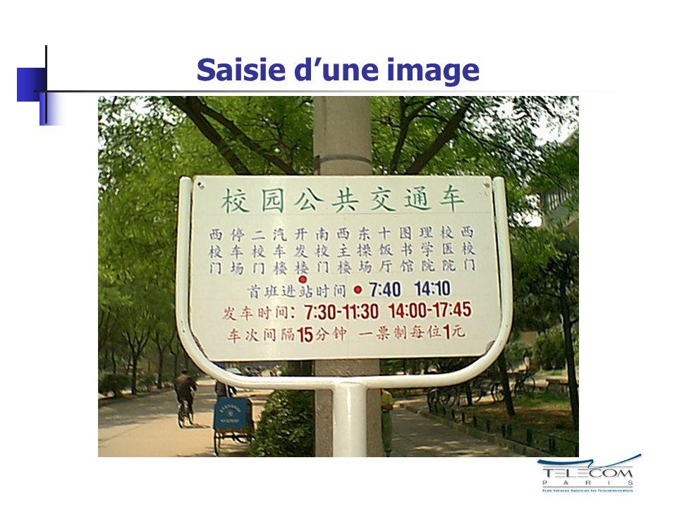 Saisie dune image