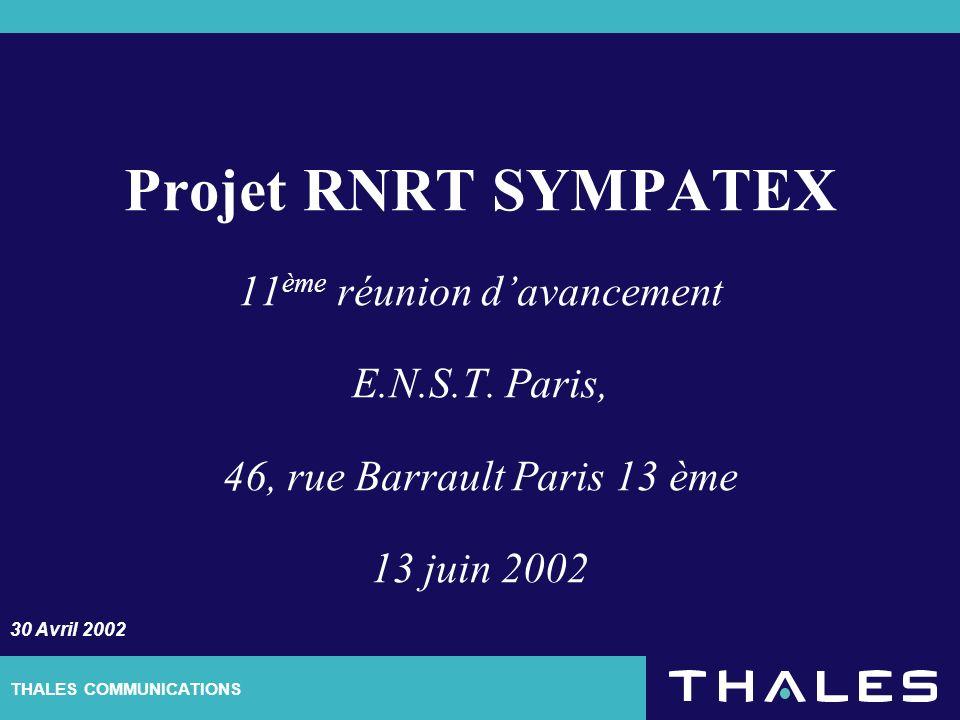 2/5 Les informations contenues dans ce document sont la propriété exclusive du Groupe THALES.