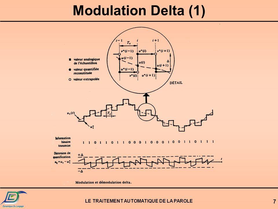 LE TRAITEMENT AUTOMATIQUE DE LA PAROLE 7 Modulation Delta (1)
