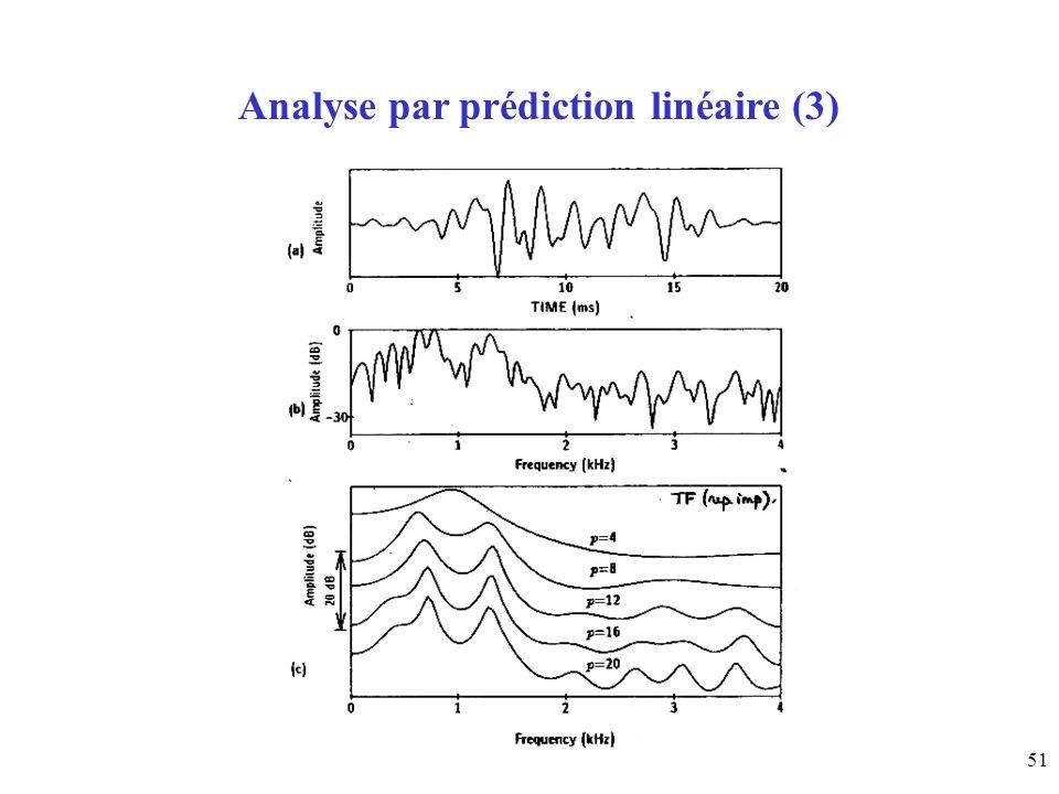 51 Analyse par prédiction linéaire (3)