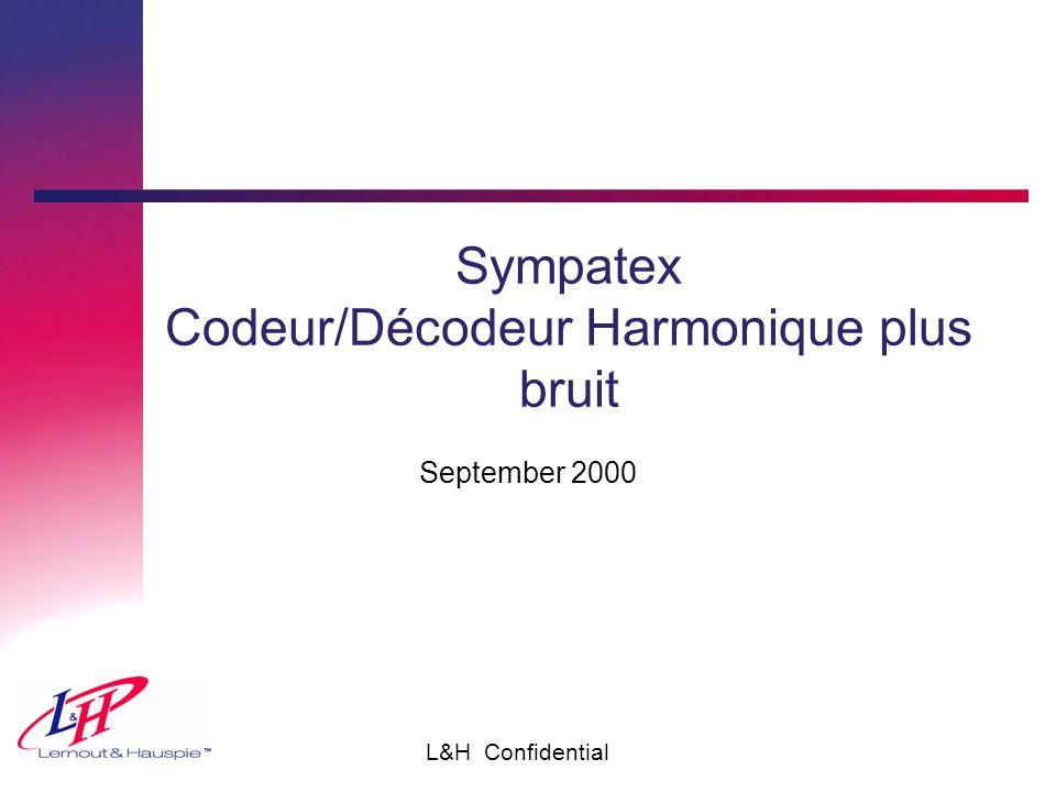 L&H Confidential Sympatex Codeur/Décodeur Harmonique plus bruit September 2000