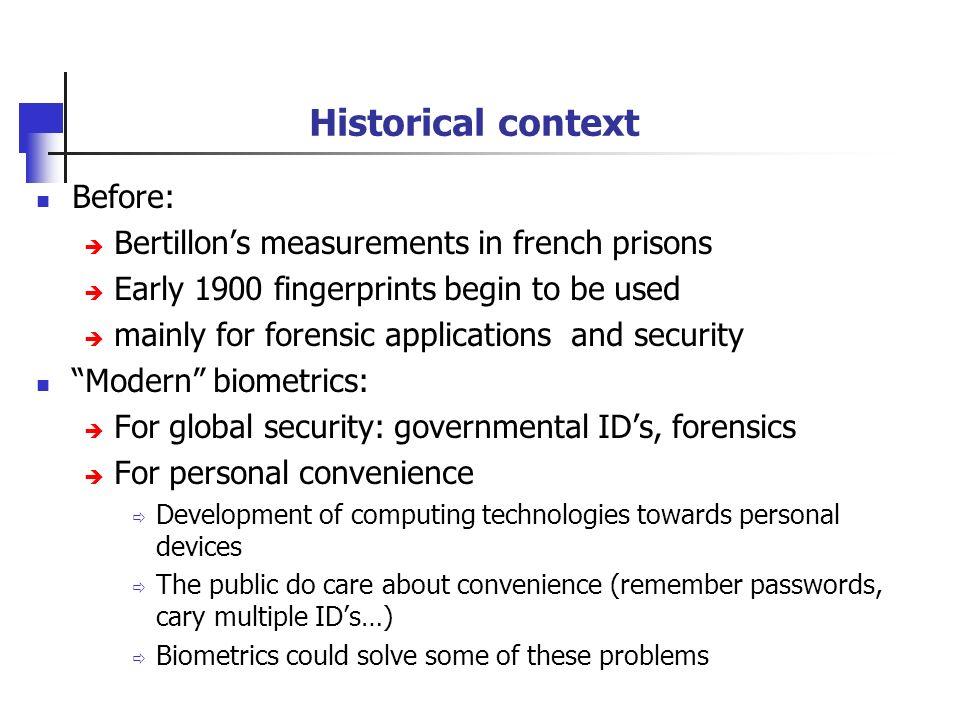 Illustration of the Bertills person identification system A.