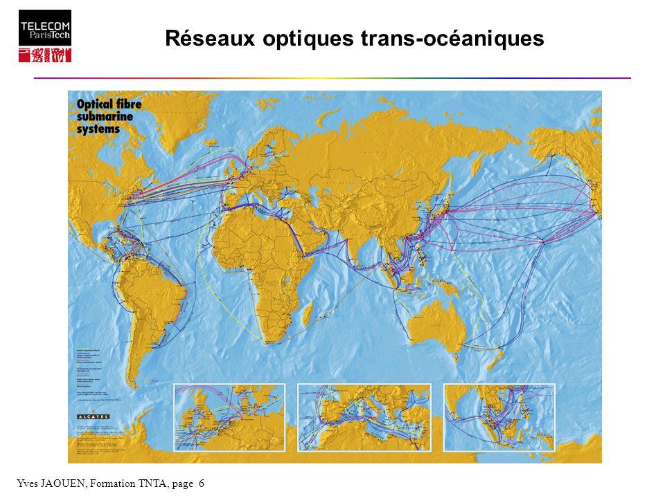 Yves JAOUEN, Formation TNTA, page 6 Réseaux optiques trans-océaniques