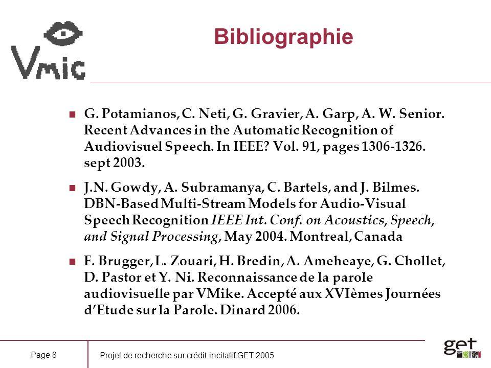 Projet de recherche sur crédit incitatif GET 2005 Page 8 Bibliographie G.