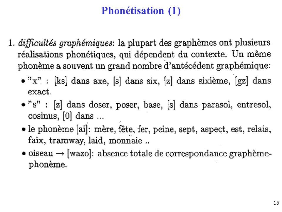16 Phonétisation (1)