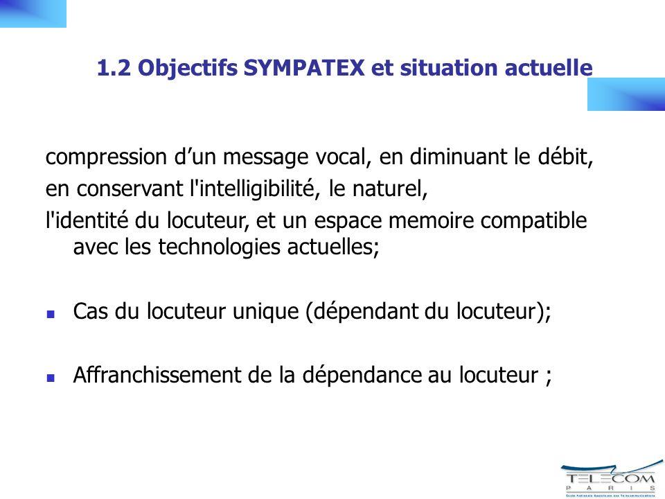 1.3 Cas du locuteur unique Synthèse Synthèse LPC améliorée par la synthèse HNM On retient le principe de la synthèse par concaténation Questions ouvertes: quelles unités de synthèse choisir .