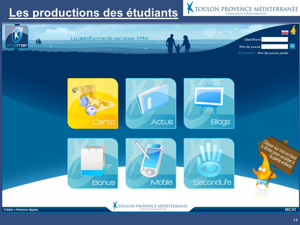 14 Les productions des étudiants