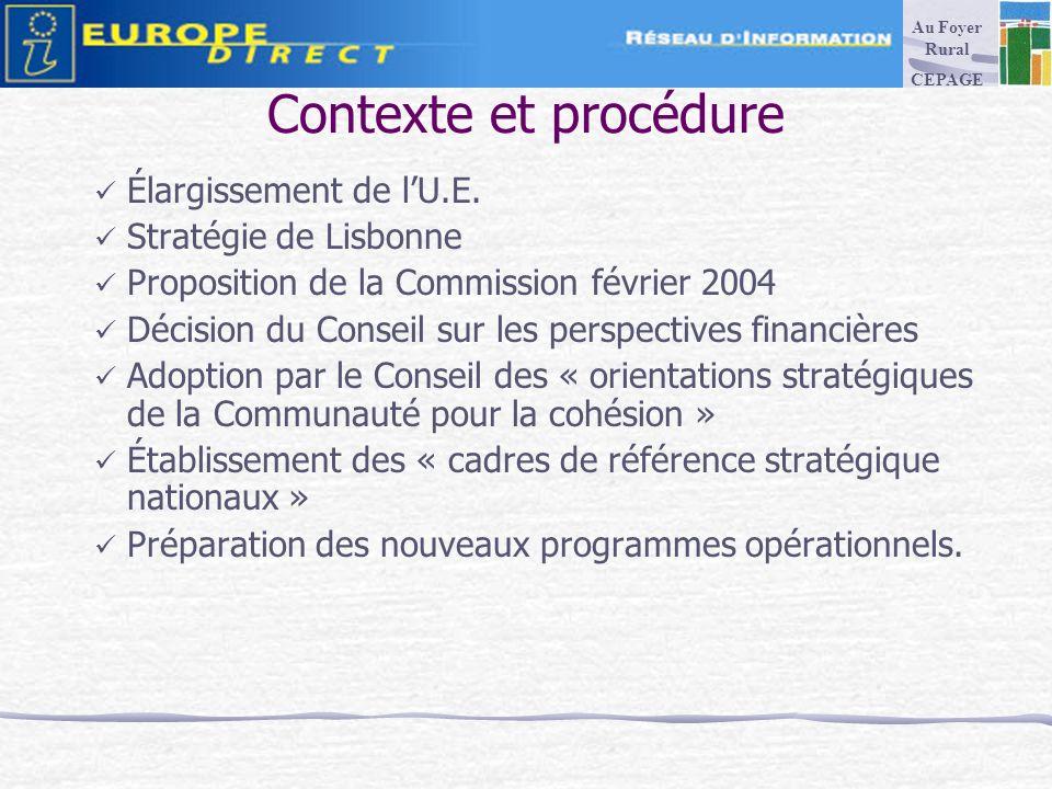 Contexte et procédure Élargissement de lU.E.