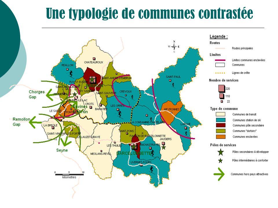 Une typologie de communes contrastée