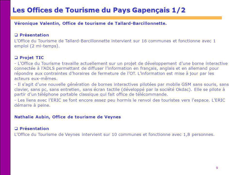 9 Véronique Valentin, Office de tourisme de Tallard-Barcillonnette. Présentation LOffice du Tourisme de Tallard-Barcillonnette intervient sur 16 commu