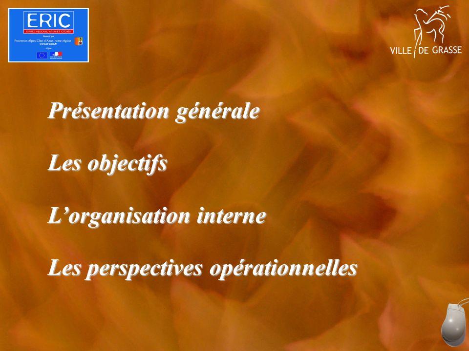 Présentation générale Les objectifs Lorganisation interne Les perspectives opérationnelles