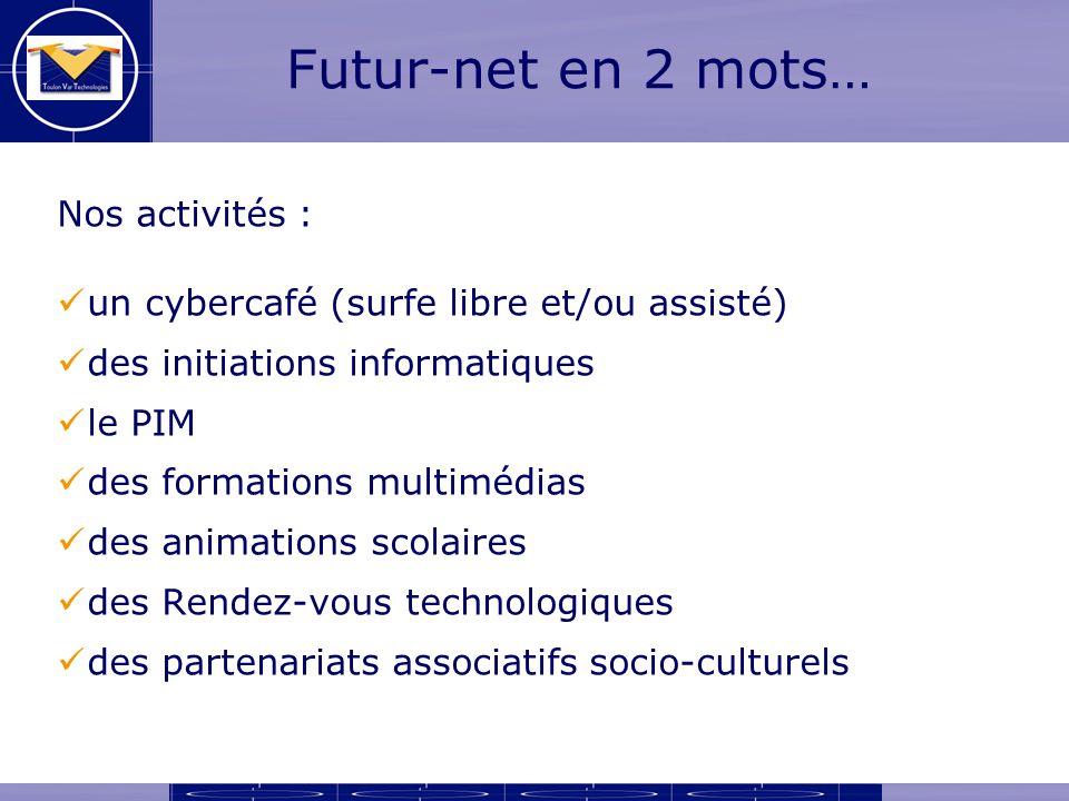 E-administration à Futur-net Un des objectifs de Futur-net : présenter quelques utilisations dInternet dans la vie de tous les jours.