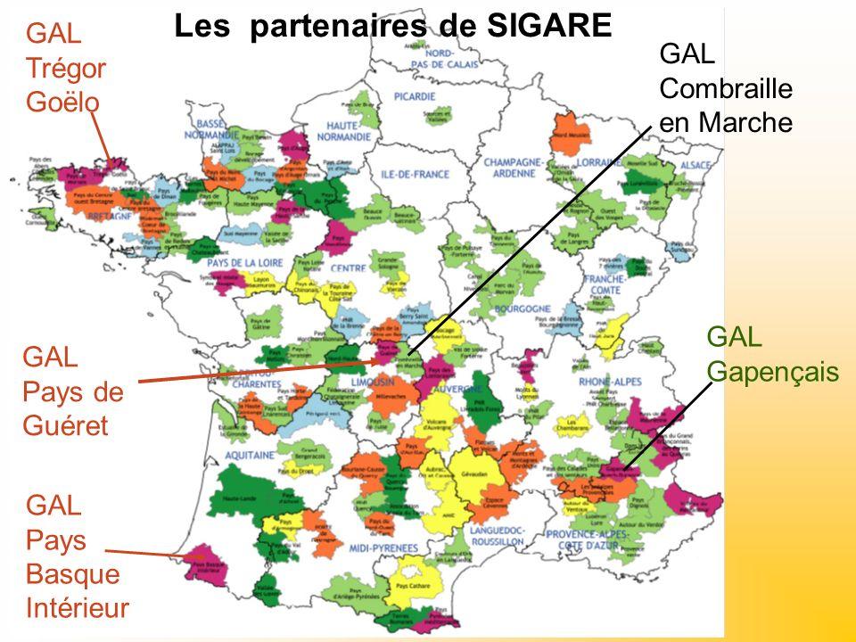 GAL Pays de Guéret GAL Pays Basque Intérieur GAL Trégor Goëlo GAL Gapençais GAL Combraille en Marche Les partenaires de SIGARE