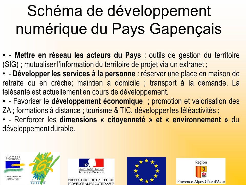 Schéma de développement numérique du Pays Gapençais - Mettre en réseau les acteurs du Pays : outils de gestion du territoire (SIG) ; mutualiser linfor