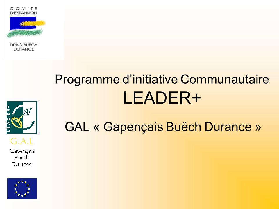 Programme dinitiative Communautaire LEADER+ GAL « Gapençais Buëch Durance »