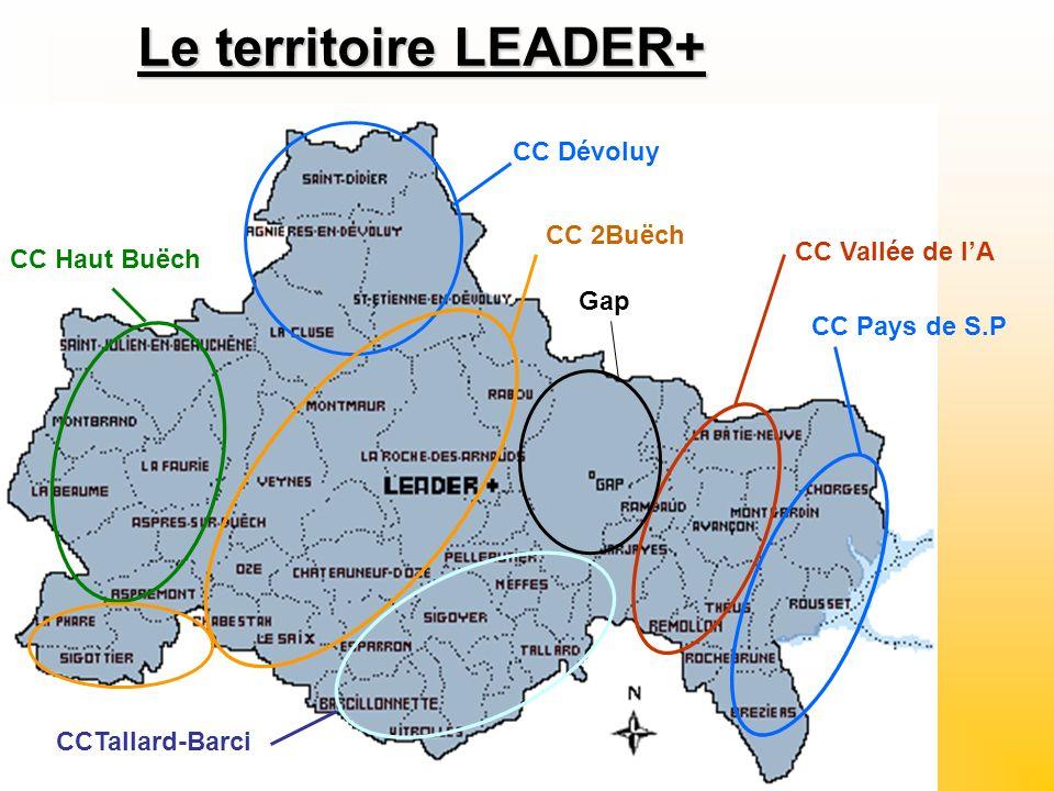 Le territoire LEADER+ CC Dévoluy CC Haut Buëch CC 2Buëch CCTallard-Barci CC Pays de S.P CC Vallée de lA Gap