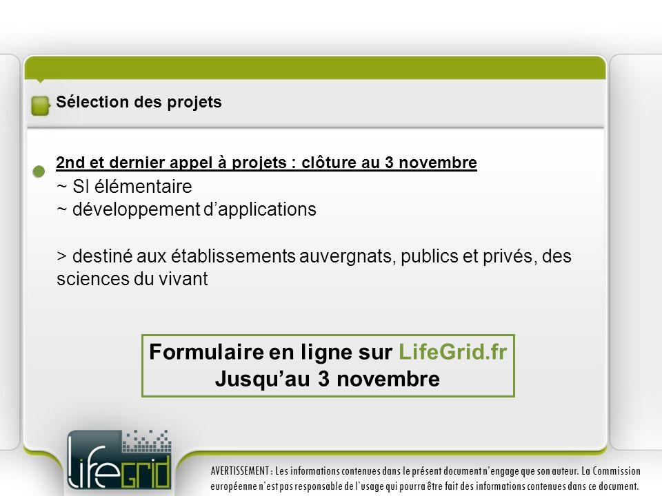 Sélection des projets 2nd et dernier appel à projets : clôture au 3 novembre ~ SI élémentaire ~ développement dapplications > destiné aux établissemen