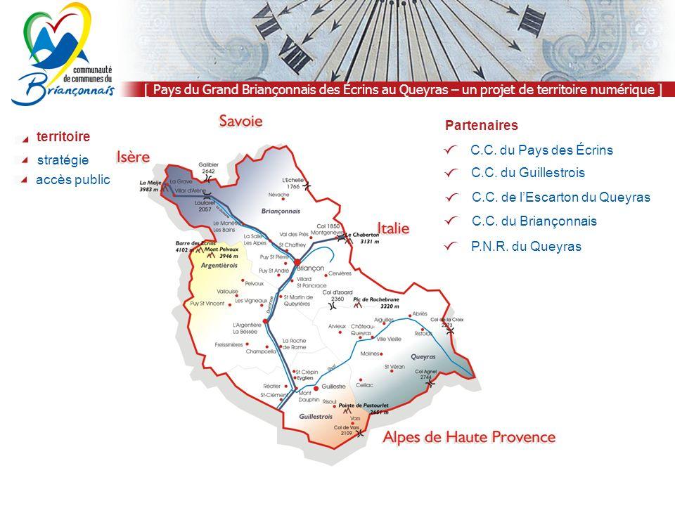 [ Pays du Grand Briançonnais des Écrins au Queyras – un projet de territoire numérique ] territoire stratégie C.C.