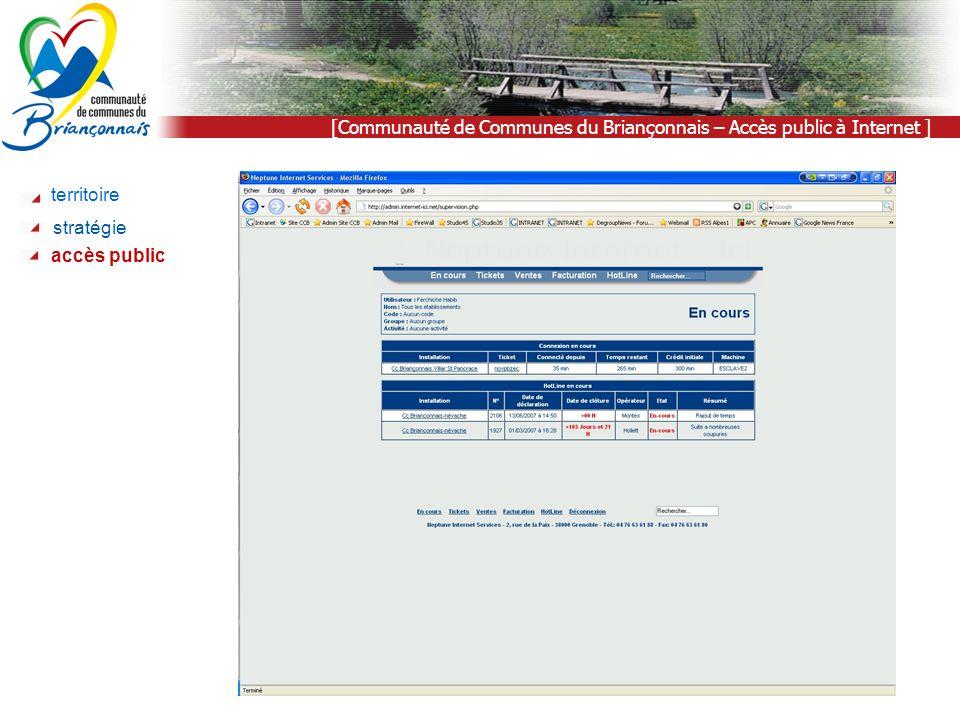 [Communauté de Communes du Briançonnais – Accès public à Internet ] territoire stratégie accès public