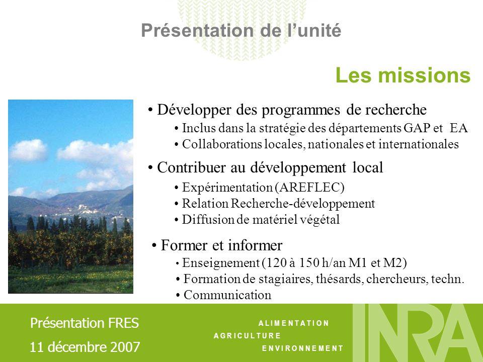 A L I M E N T A T I O N A G R I C U L T U R E E N V I R O N N E M E N T Réseau de collaborations local / national Université de Corse: labo de Biochimie - Thèse de M.V.