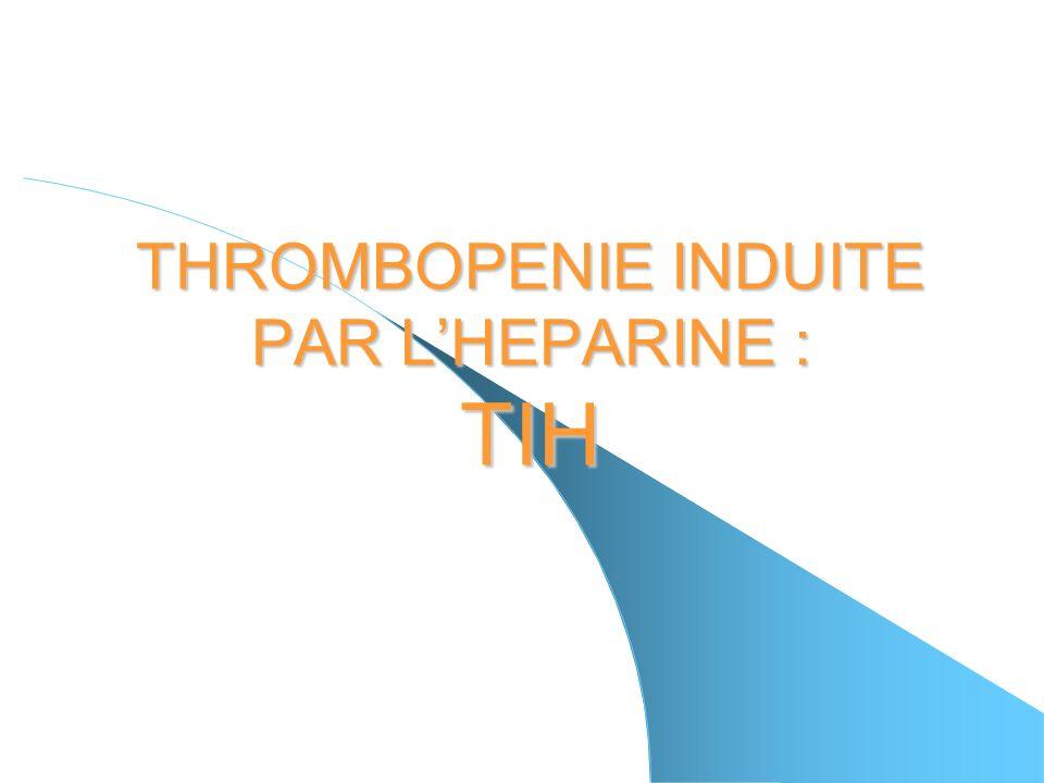 Remarques - La clinique na pas révélé de signes de thromboses - Le test fonctionnel dagrégation plaquettaire ainsi que le test ELISA se sont révélés positifs - pas de relais AVK - pas de recherche de CIVD par les complexes solubles