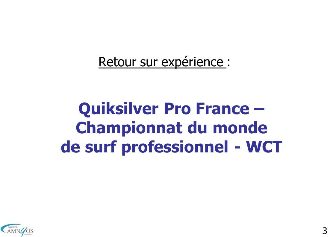 3 Retour sur expérience : Quiksilver Pro France – Championnat du monde de surf professionnel - WCT