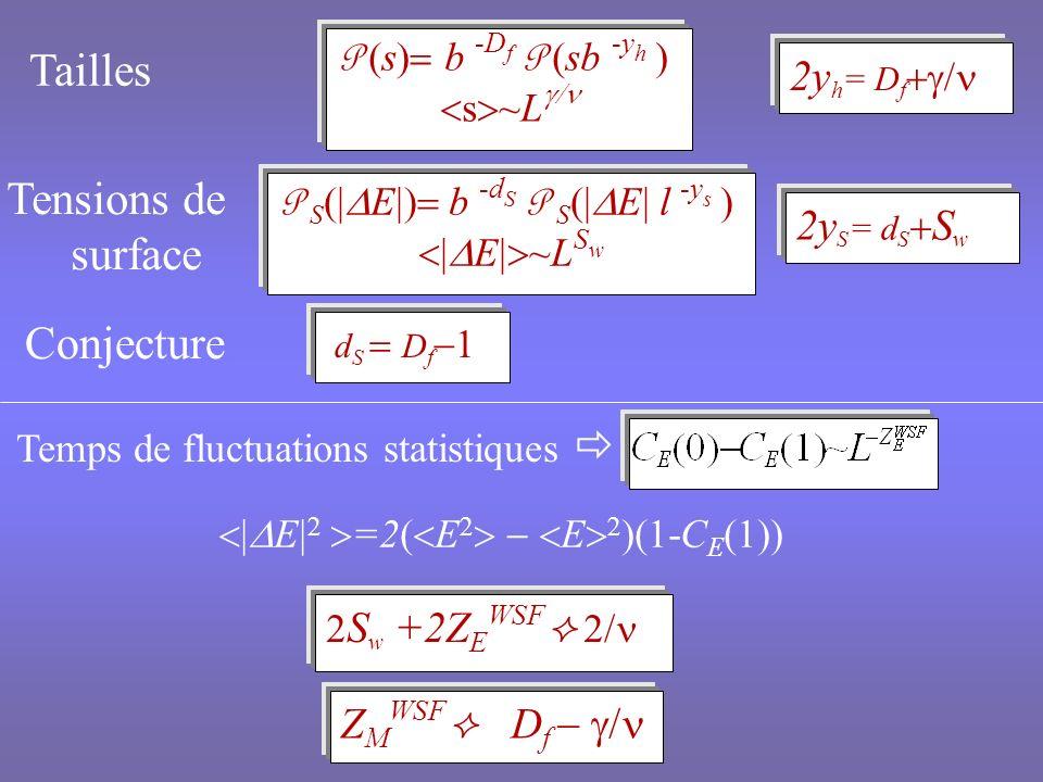 Modèle de Potts ferromagnétique à q états de spin Réseaux invariants par translation Ordre de la transition dépendant de q et d Valeur critique q c (d) Désordre : champ pertinent dans certaines conditions