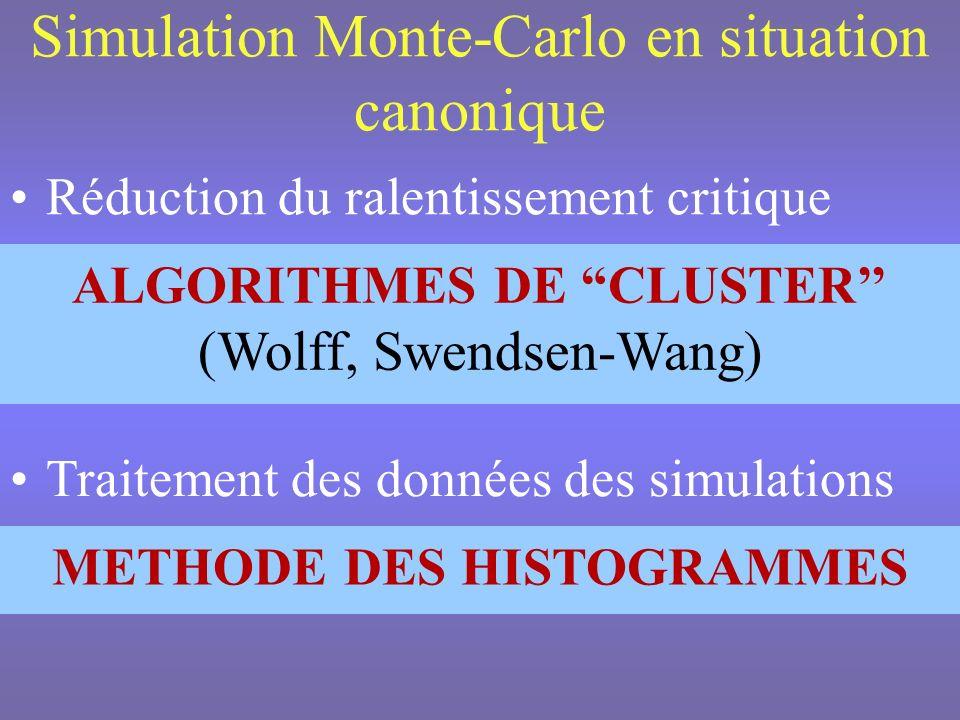 Analyse en tailles finies Comportement asymptotique de la longueur de corrélation ~|t| - où t =(T- T C )/T C Hypothèse dhomogénéité f(t,h)=b -D f f(tb y t,hb y h )