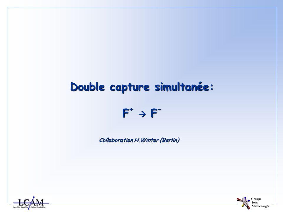 Double capture simultanée: F + F - Collaboration H.Winter (Berlin)