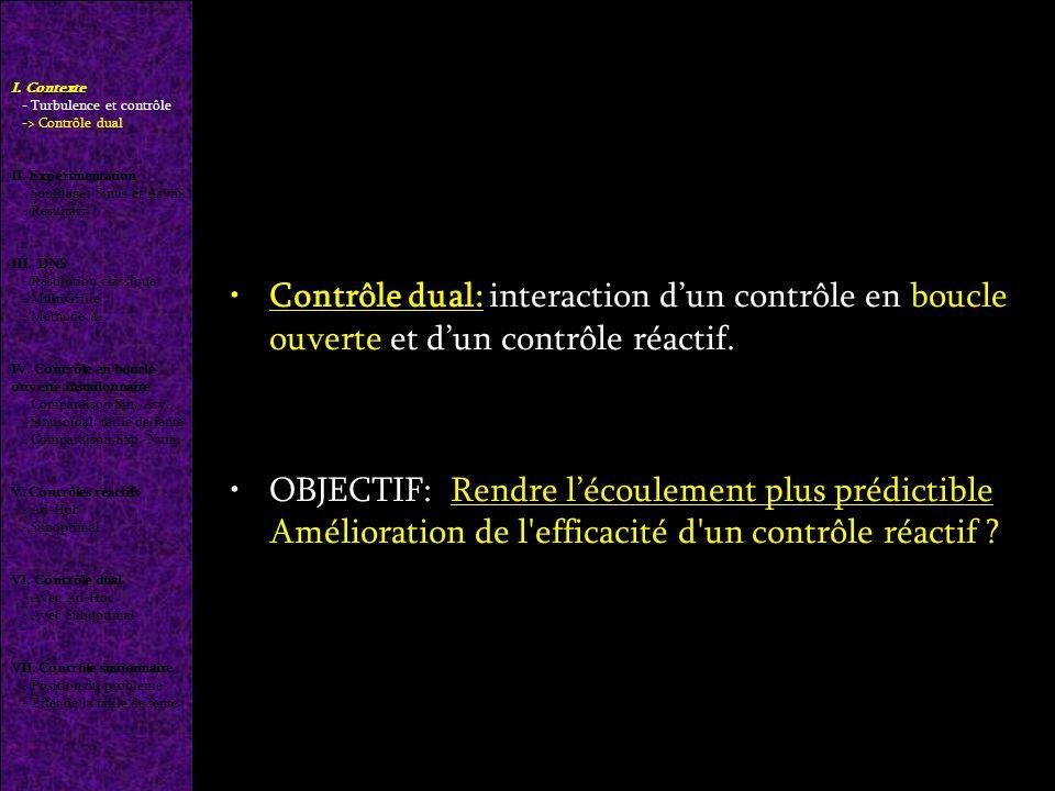 Contrôle dual: interaction dun contrôle en boucle ouverte et dun contrôle réactif.