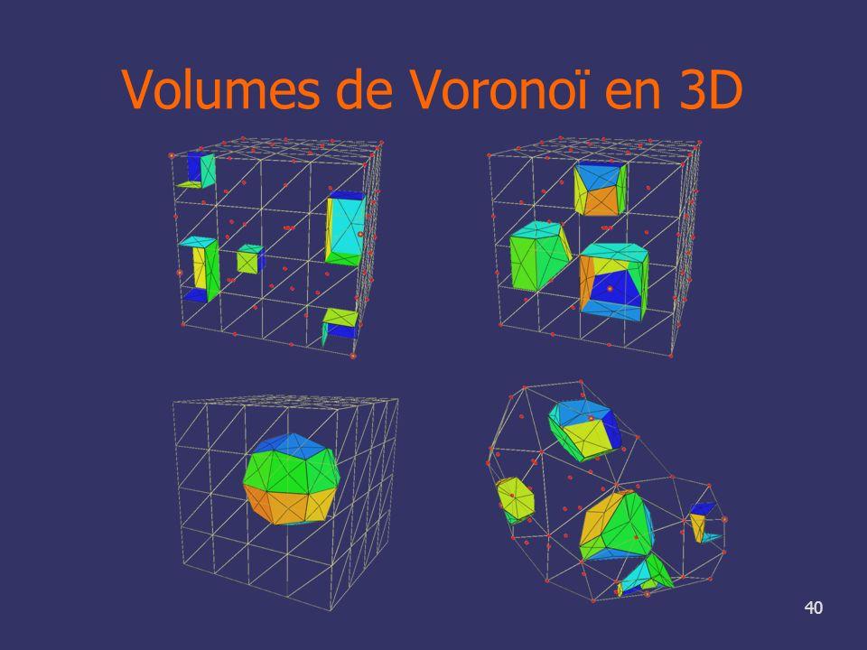 40 Volumes de Voronoï en 3D