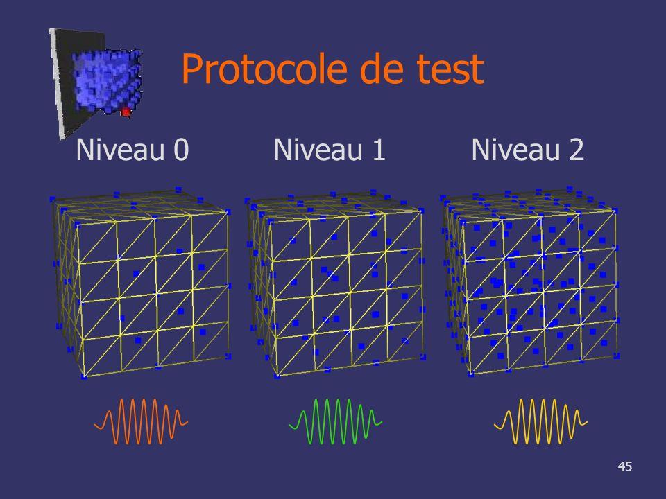 45 Protocole de test Niveau 0 Niveau 1 Niveau 2