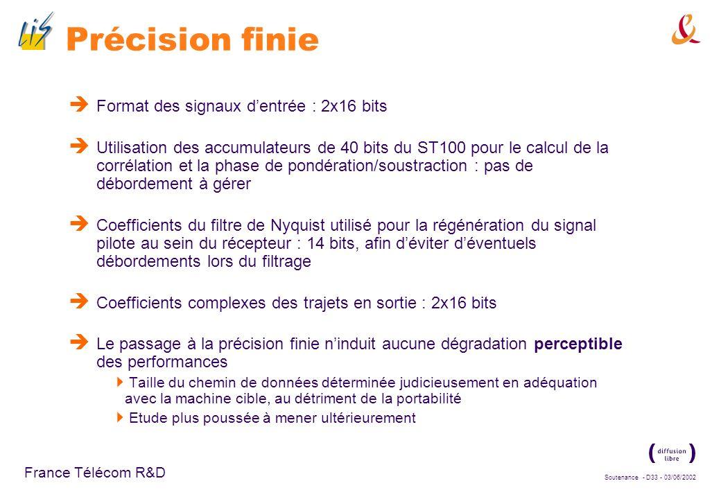 Soutenance - D32 - 03/06/2002 France Télécom R&D Outils de développement ST100 MULTI, environnement de développement commercial classique, de Green Hi