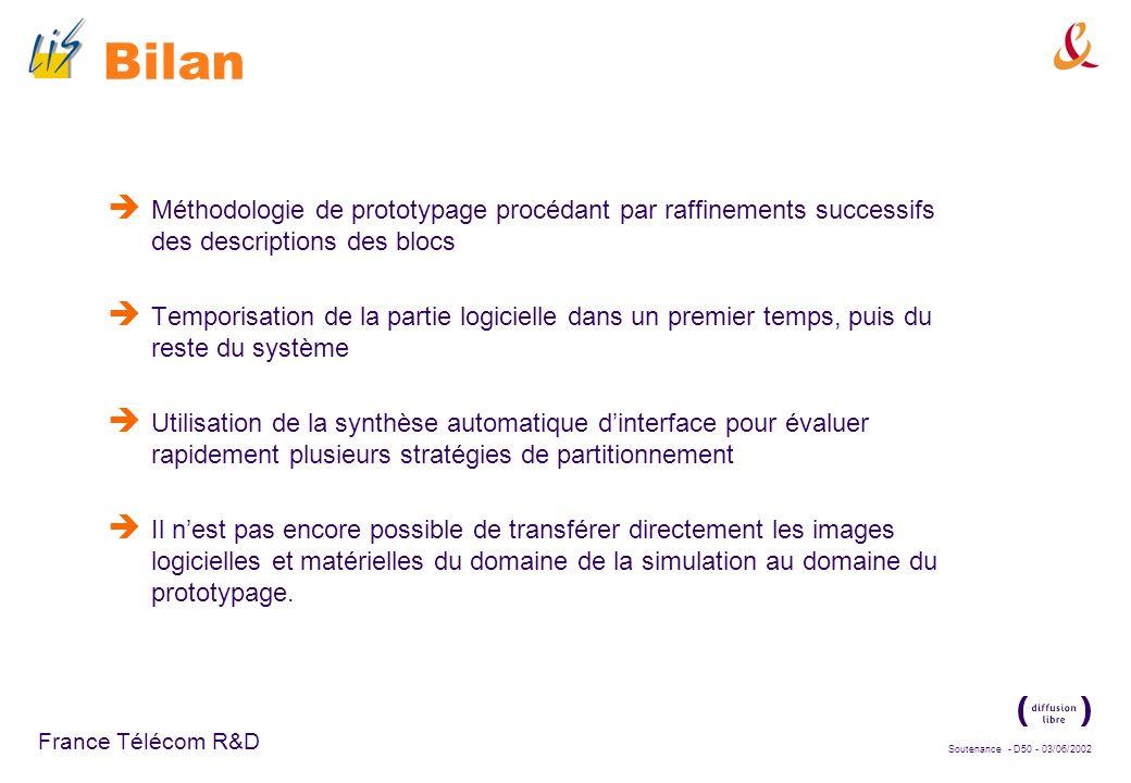 Soutenance - D49 - 03/06/2002 France Télécom R&D Adéquation de la méthodologie proposée au prototypage rapide Les interfaces générées par N2C ne sont