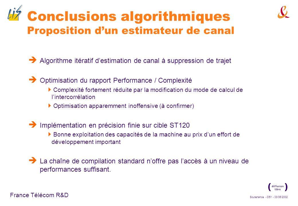 Soutenance - D50 - 03/06/2002 France Télécom R&D Bilan Méthodologie de prototypage procédant par raffinements successifs des descriptions des blocs Te