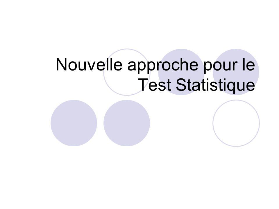 Nouvelle approche pour le Test Statistique