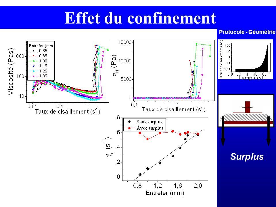 Protocole - Géométrie Surplus Effet du confinement