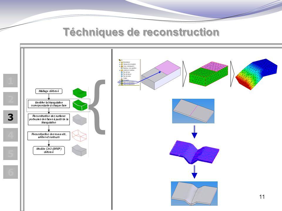 11 { Téchniques de reconstruction 1 2 3 4 5 6