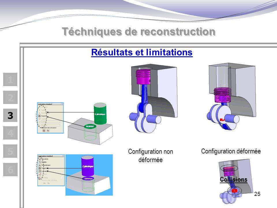 25 Téchniques de reconstruction Configuration non déformée Configuration déformée Collisions 1 2 3 4 5 6 Résultats et limitations