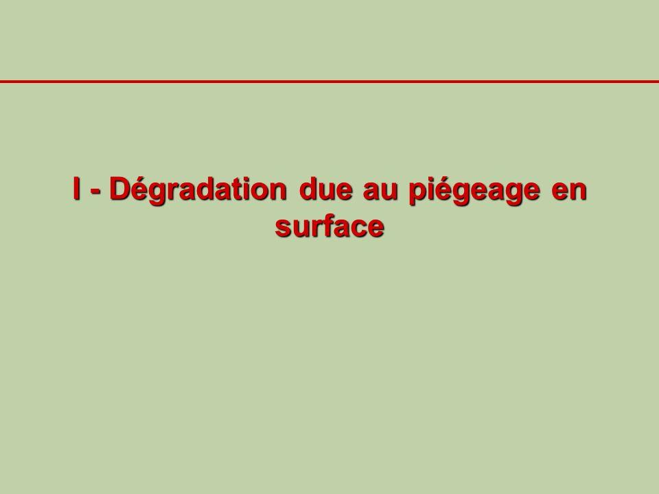 I - Dégradation due au piégeage en surface