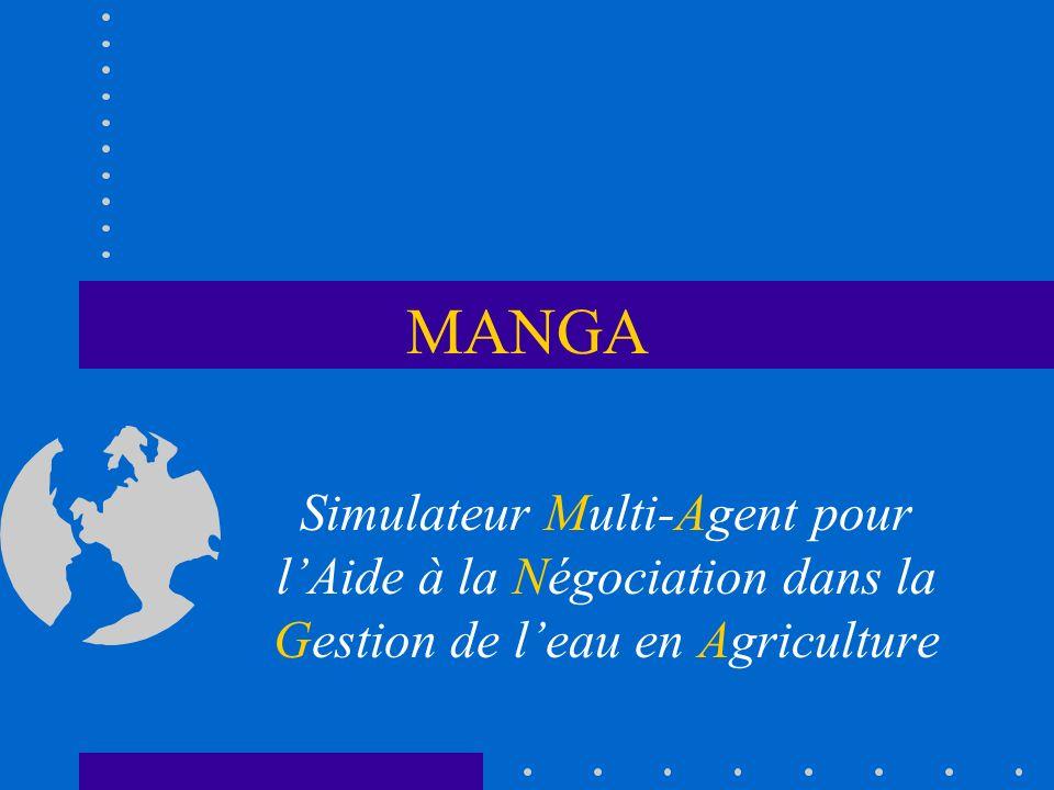 MANGA Simulateur Multi-Agent pour lAide à la Négociation dans la Gestion de leau en Agriculture